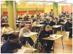 Na de cursussen volgt het examen.