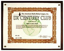 Het DX Century Club DXCC