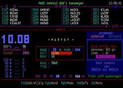 Een kijkje naar het beeldscherm van een PACC contest log applicatie.