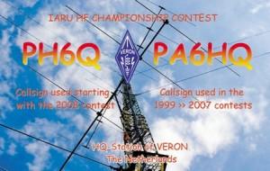 PA6HQ actief tijdens het IARU HF Championship 2019