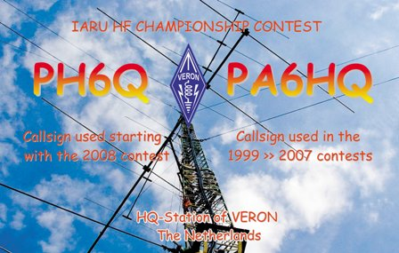 HF World Championship PA6HQ-PH6Q QSL