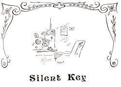 Silent Key in 2009; Tekening van Dick Kraayveld (PA3ALM)