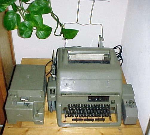 Een oude Telex van de Telex Muurkrant