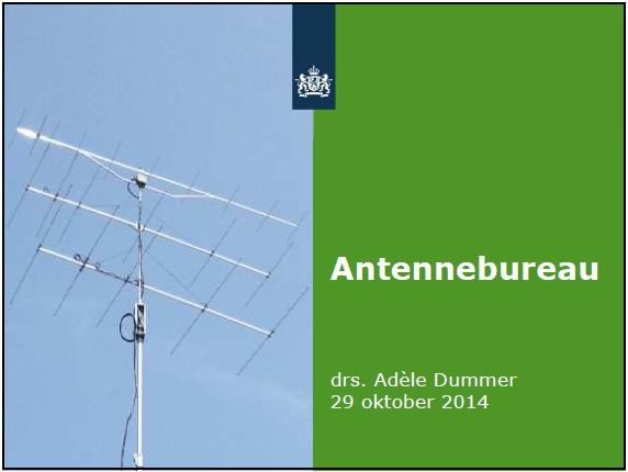 Presentatie antennebeleid door het antennebureau