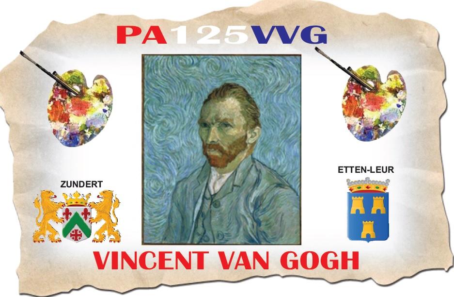 Speciale roepletters PA125VVG herdenken Vincent van Gogh