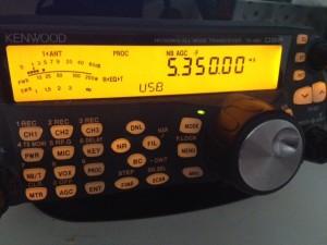 100 kHz en 100 W op 60 m, geniet er nog even van!