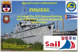 PI6ZKKL actief tijdens Sail Amsterdam 2015
