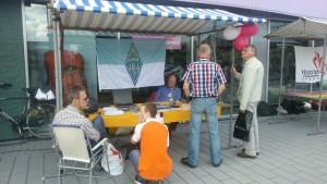 Promotie zendamateurisme op najaarsmarkt Gouda