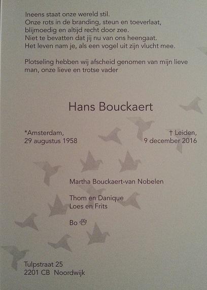 OM Hans Bouckaert (PD3HB), Silent Key