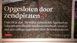 Dagblad Tubantia brengt zendamateurs onjuist in het nieuws