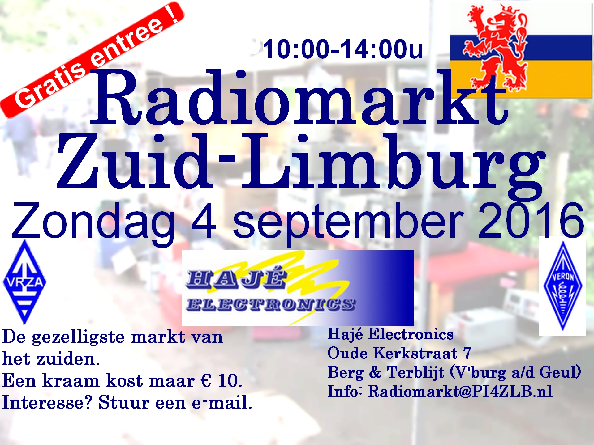 Radiomarkt Zuid-Limburg op 4 september 2016
