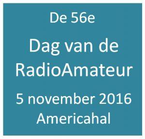 Terugblik op de 56ste Dag voor de Radio Amateur op 5 november 2016