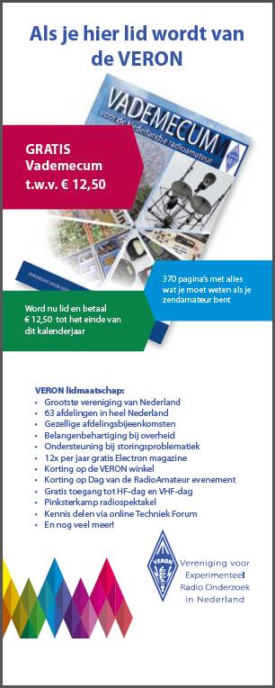 Radioexamen 24 mei: Voor 12,50 VERON lid tot 2018 en een gratis Vademecum