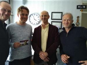 Henk Nijboer (PvdA op bezoek bij PC1TK Sjohnie
