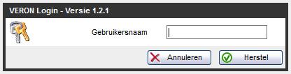 VAS, resetten wachtwoord