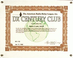 DXCC Award behaald na DXCC Card Checking