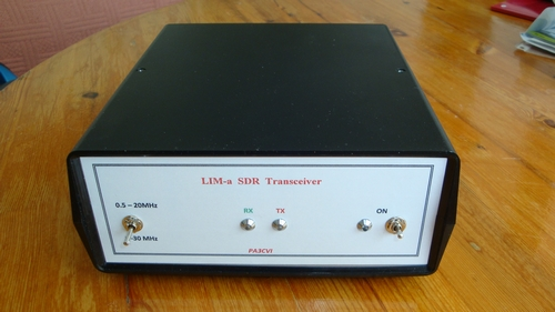 Mijn eerste QSO met mijn nieuwe Lima-SDR