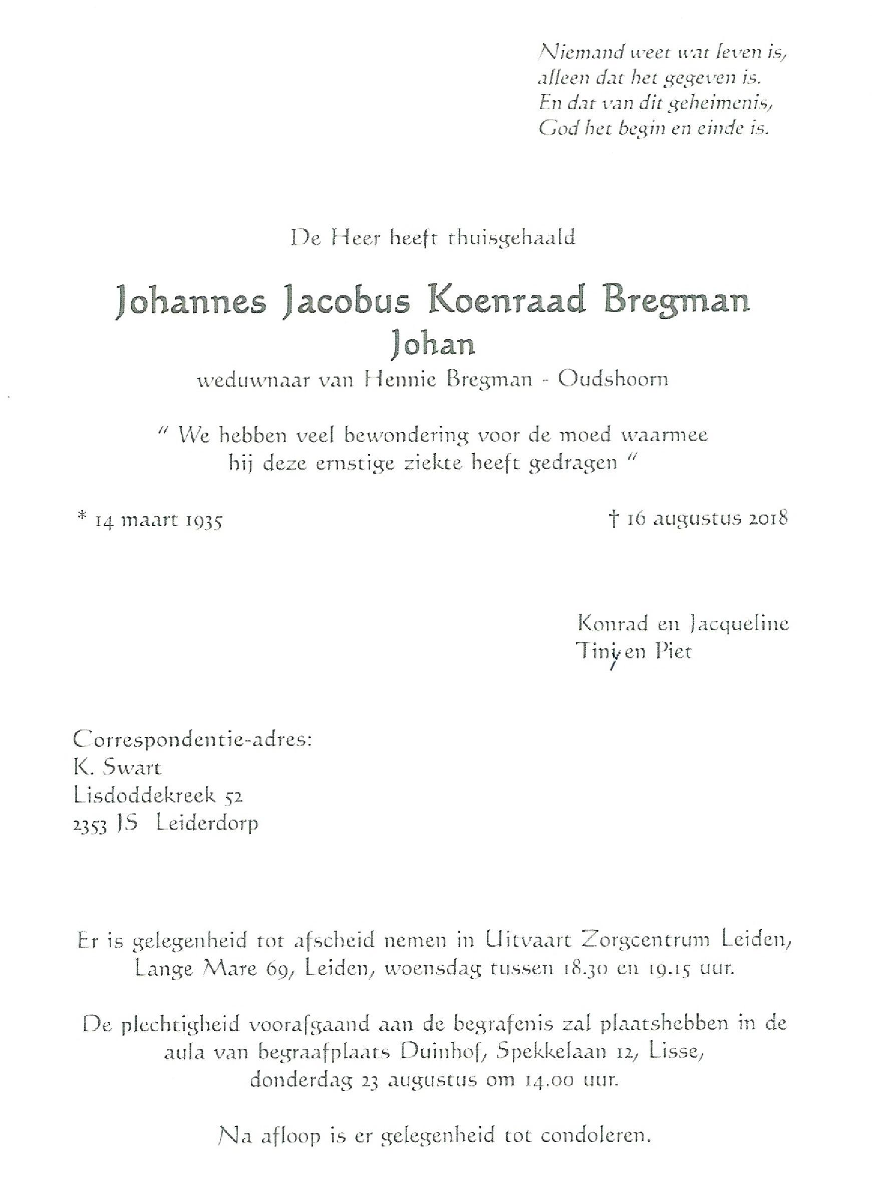 OM Johan Bregman (PA3CIB) Silent Key