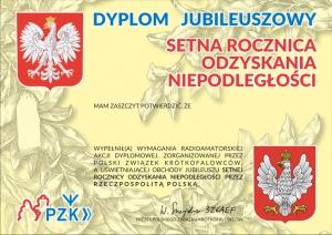 Award 100 jaar onafhankelijkheid van Polen