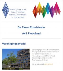 A41 Flevoland start met huisstijl nieuwsbrief