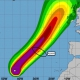 Orkaan Lorenzo nadert Azoren
