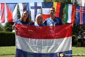 Nederlandse deelnemers aan het YOTA-zomerkamp 2019