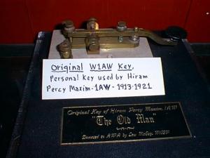W1AW morse key