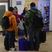 Aankomst deelnemers Winter YOTA