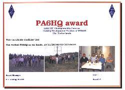 PA6HQ award