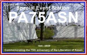 PA75ASN 75 jaar bevrijding van de stad Assen van 1 april tot 7 mei