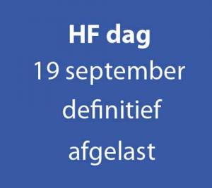 40e HF Dag gaat definitief niet door