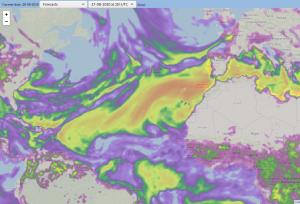 Afbeelding troposfeer forecast 27-08-2020