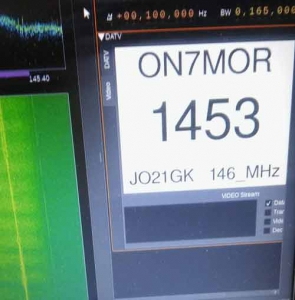 2m DATV Experiment gehouden op 22 augustus geslaagd