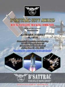 NL14038 ontvangt B'SATTRAC SSTV AWARD nummer 0001