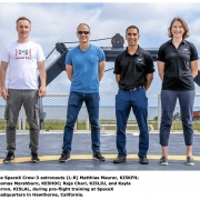 vier zendamateurs naar ISS