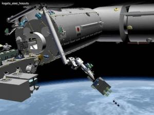 De Kiko Robotarm zet woensdag 6 oktober vier CubeSats met amateurradio aan boord uit vanuit het ISS.